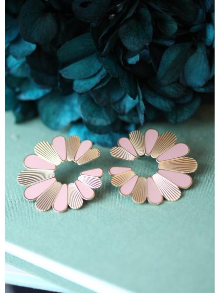 Boucle d'oreilles Rose Flower 1