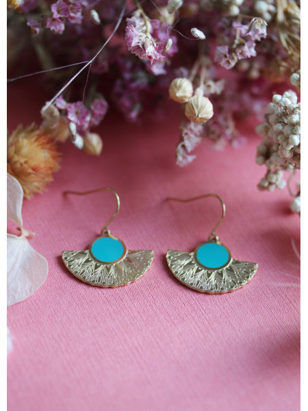 Boucles d'oreilles Oh Ma 9 Turquoise