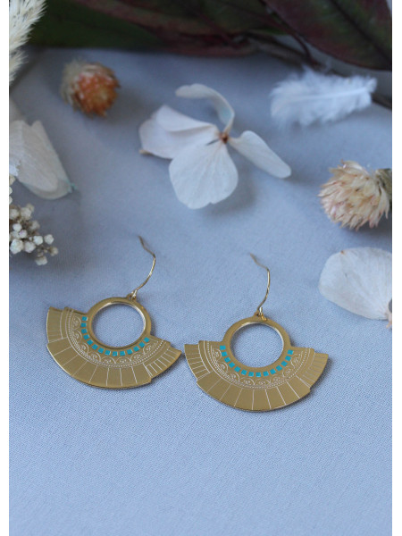 Boucles d'oreilles Oh Ma 19 Turquoise