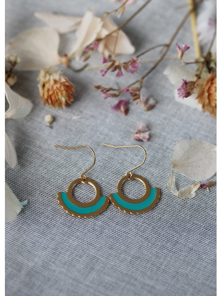 Boucles d'oreilles Oh Ma 22 Turquoise