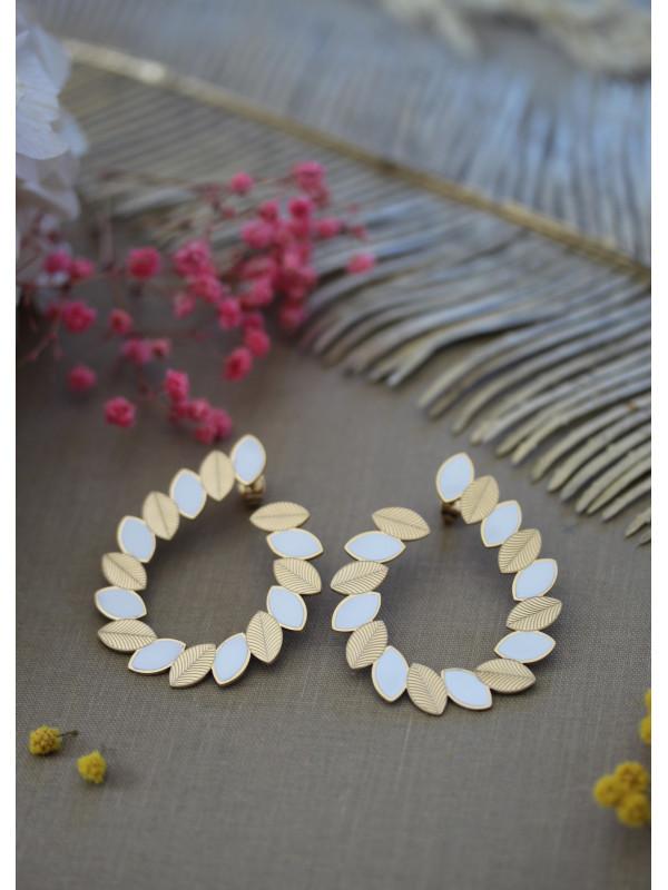 Boucles d'oreilles OH MA 1 Blanc
