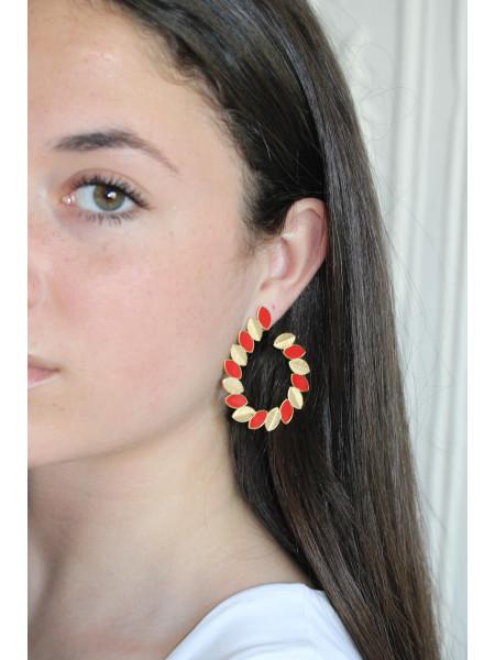 Boucles d'oreilles OH MA 1 Rouge